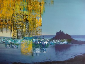 Uwe Schmitz, Castle, 170x130 cm,2010, acrylics on fotoprinting(canvas), 2010