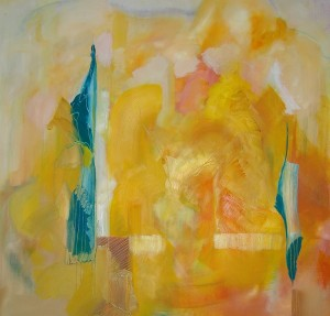 Uwe Schmitz, Yellow II, 80x80 cm, 2007, acrylic on canvas