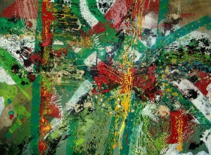 Uwe Schmitz, green IV, 130 x 100 cm, 2011, oil on canvas